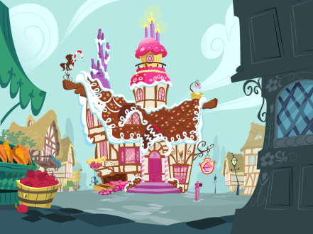 """""""Pinkie, would you be a dear and light the candles on the cupcake that's on top of the house for some reason?"""""""