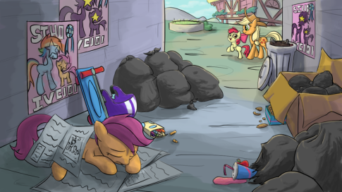 Oh yeah, I TOTALLY believe that no one in Ponyville would have a problem with this.