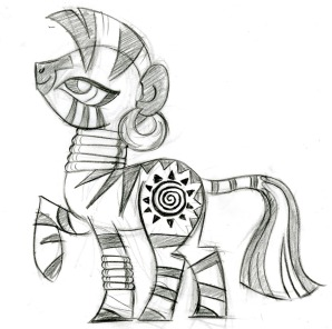 Original sketch by Lauren Faust