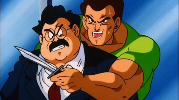 """We want Mr. Satan to give us his autograph, or else fatty loses his head!"""