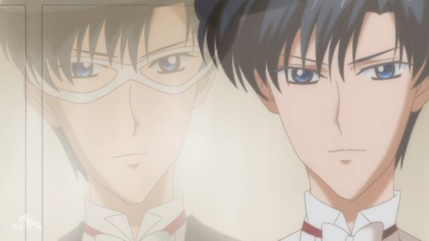 """Hold on… That one guy I keep bumping into that looks just like Tuxedo Mask is in fact Tuxedo Mask!?"""