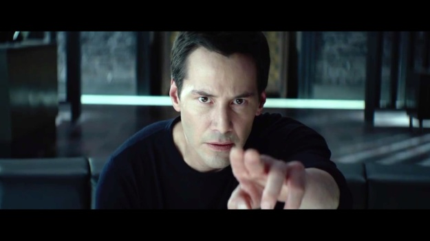 Hey, if Keanu pointed at you, you'd stop what you're doing too!