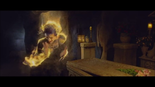 """""""What is this sorcery!?"""" """"It's called fire lady."""""""