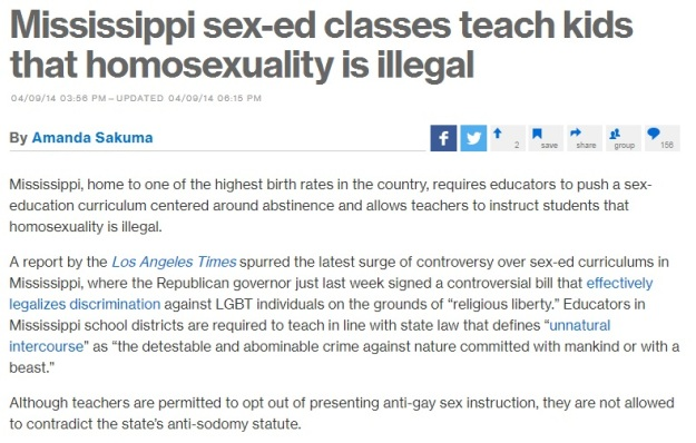I'm so glad we still have to deal with this shit.  Yeah.  Good job Mississippi.  Keep up the good work.