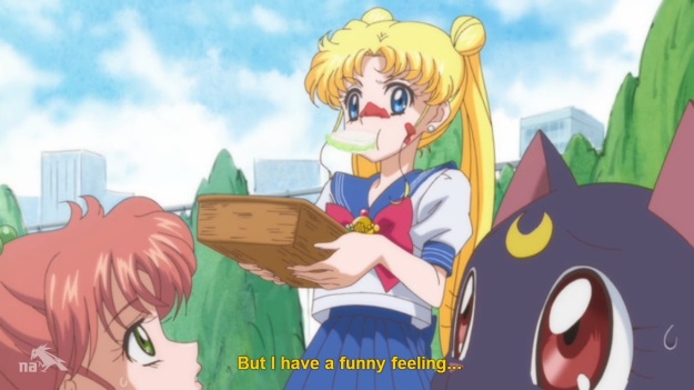 """That's called indigestion Usagi.  Go take an antacid before you get gassy."""