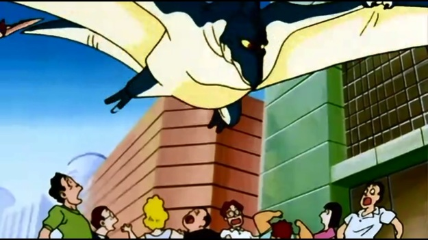 """""""GODZILLA!!"""" """"Not even close. He's much closer to Rodan than Godzilla.""""     """"WHO CARES!?  IT'S GONNA EAT US!!!"""""""