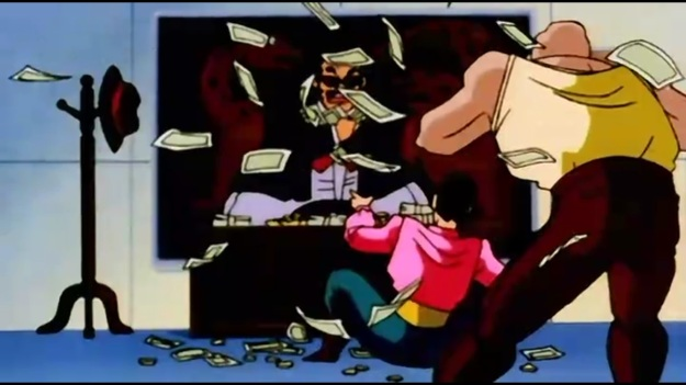 """""""Sir! The dragon's been kid-"""" """"DON'T YOU PEOPLE KNOCK!?!?!? DON'T INTERUPT ME DURING MY MONEY TIME!!"""""""