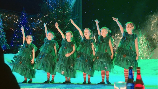 Oh look! Christmas trees singing an Irish folk song!