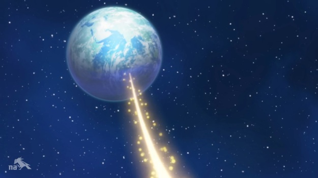 That beam travels almost 240,000 miles BEFORE it circles the Earth!!