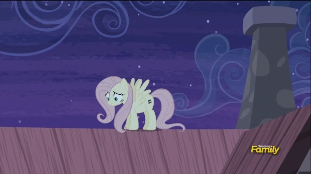 """You know, that whole 'cutie mark' thing might not be all it's cracked up to be.  Let's just go back and hide under the covers instead."""