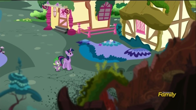 """""""Are they gonna clean this up at some point?"""" """"Meh. Ponyville had some budget cutbacks. What can you do?"""""""