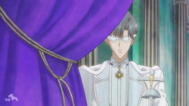 I'm aware his glasses were like that in the ORIGINAL anime, but they've NEVER been like that in Crystal and WEREN'T like that five minutes ago.