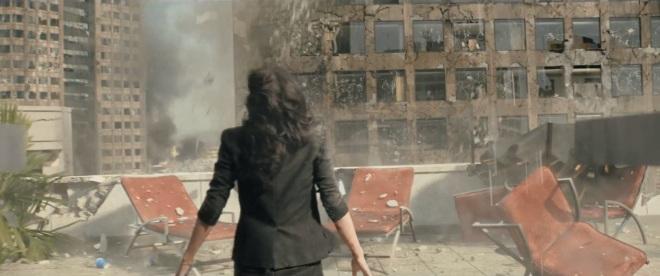 Free tip for anyone else who wants to make an earthquake movie. Shoot from the ground up. Falling debris is scary as hell.