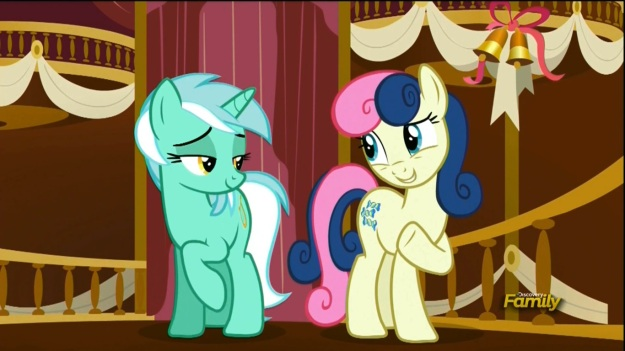 """It's so great having a BEST FRIEND like you Lyra!""     ""Yeah!  We know SO MUCH about each other because we're BEST FRIENDS!"""