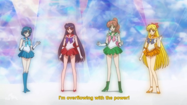 """So we can fight alongside Sailor Moon now!?""     ""Whoa whoa whoa!  Let's not get HASTY here!"""