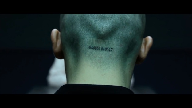 Who put the bar code on his head!?  If it was The Syndicate, wouldn't The Organization remove it?  If it WASN'T the people who crafted him in a lab, then do ALL the employees at The Organization have bar codes?  The receptionist!?  The janitor!?
