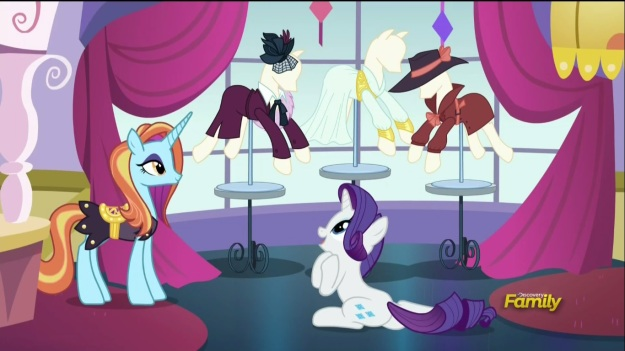 """This is from the day she went to the experiments that turned Steve Withers into Captain Canterlot, and this is from when she went to see him at the bar during their campaign in Griffonstone, and this is from her spin-off miniseries!!"""
