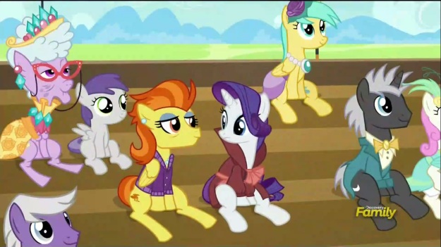 """Rarity, are you trying to talk like Humphrey Fetlock?""     ""AAAAHHHHHHHHH!!!!!"""