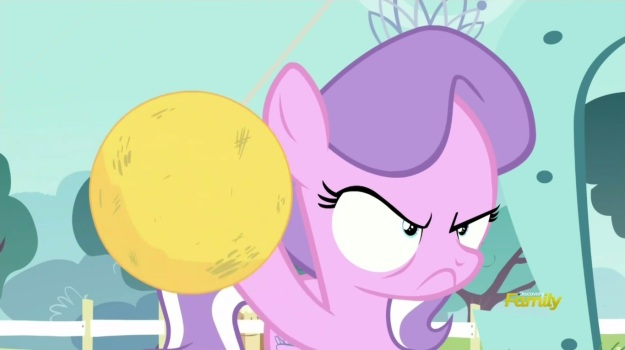 """You see this tetherball?  It's Griffonstone crap.  You elect me, and I guarantee that it will be replaced with the finest Canterlot rubber and cloth sphere in all of Equestria.  I know a guy.  Does great work."""