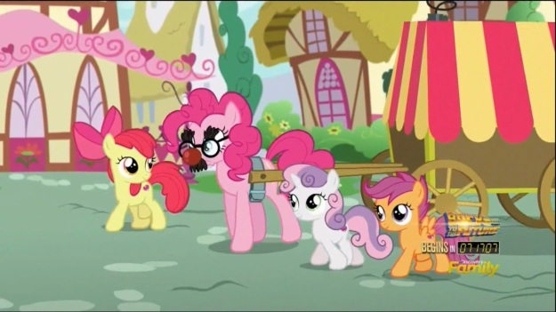 """Who is this 'Pinkie Pie'?  My name is Guy Incognito!"""