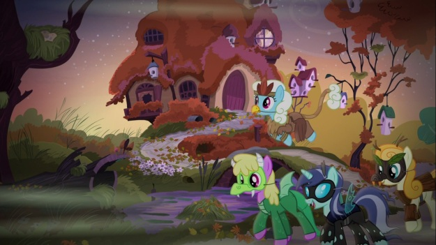 """""""What are you?"""" """"Sexy changeling. And you?"""" """"Sexy dragon."""" """"Wait, isn't that offensive?"""" """"I don't know. Should we ask Spike?"""""""