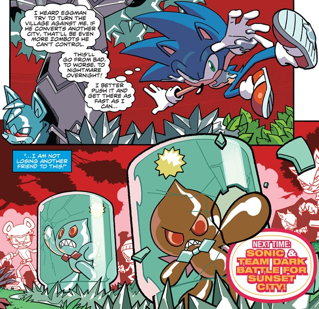 Super Comics Sonic The Hedgehog Idw 18 The Reviewers Unite